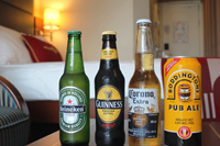 Imported Beer 6-Pack  - Includes various imported bottled beers.