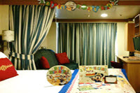 Birthday Celebration Package - Our new Birthday Celebration Package is set up and brings an air of celebratory excitement to the stateroom.