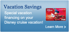 Special vacation financing on your Disney Cruise vacation